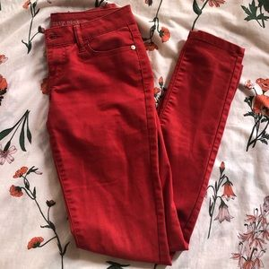 Red Skinny Pants Celebrity Pink